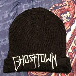 d044ee734c9 Hot Topic Accessories - Ghost Town Logo Knit Beanie